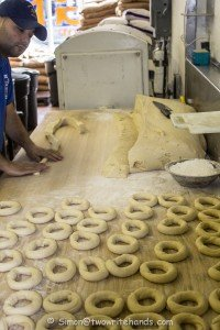 2014 - Montreal - St V Bagel shop - making bagels-1