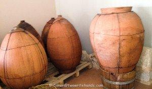 Amphorae at the Kadma Winery