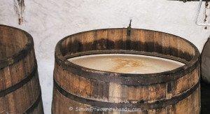 Oak Barrel Filled with Unfiltered Pilsner Urquell