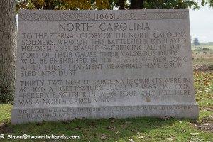 Dedication Plaque for the North Carolina Monument