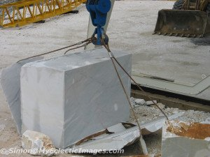 Block of Marble being Trimmed