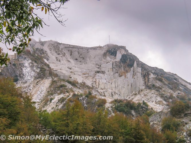 Distant View of a Carrara Marble Quarry