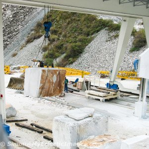 Massive Machinery to Move a Block of Carrara Marble