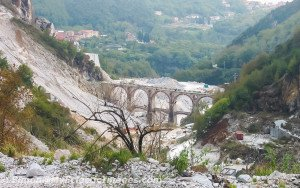 One of the Valleys at a Carrara Marble Quarry