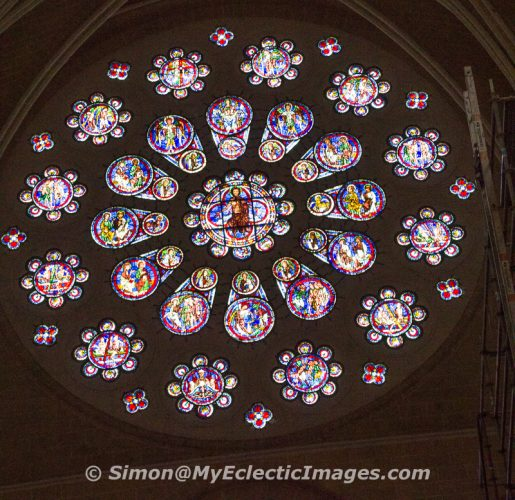 Rose Window at Chartres Cathedral, France