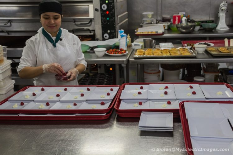 Food Preparation in the Westerdam Galley (©simon@myeclecticimages.com)