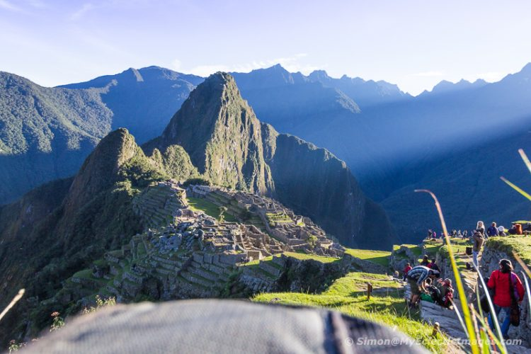 The Main Terrace of Machu Picchu as the Sun Crests the Surrounding Mountains (©simon@myeclecticimages.com)
